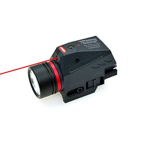Ddartsgo Torcia Tattica a LED Rosso Laser Sight per 20mm Rail Mini Glock Pistol Gun Light Lanterna Airsoft Light