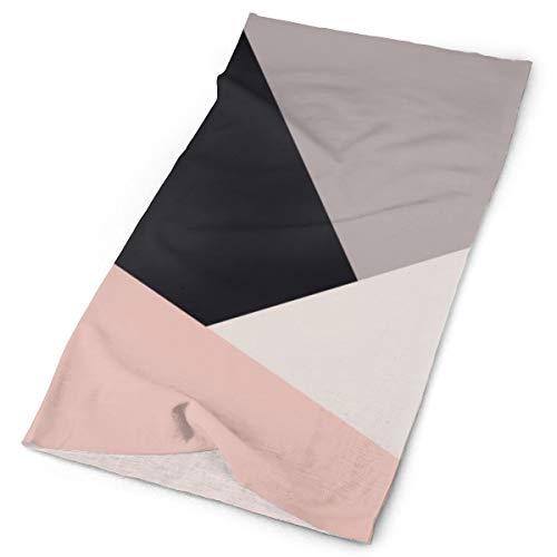 Nonebrand Geométrico Bloque de Color Elegante Moderno Elegante Multifuncional Tocado de la Cabeza Estirada al aire libre Cuello Transpirable Protección UV Escudo de la Cara Calentador de la Muñequera para todo el año