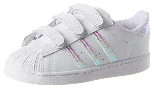 adidas Superstar CF I, Scarpe da Ginnastica Unisex-Baby, Ftwr White/Ftwr White/Ftwr White, 25 EU