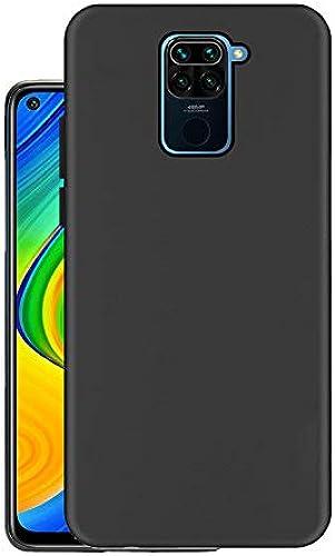 Hello Zone Exclusive Matte Finish Soft Back Case Cover For Xiaomi Mi Redmi Note 9 Black