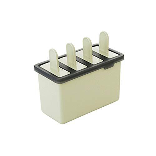 Coner Creative 4 Cavity Ice Popsicle Maker Zelfgemaakte ijsvormpjes Retro ijsvormpjes Kookgereedschap, groen