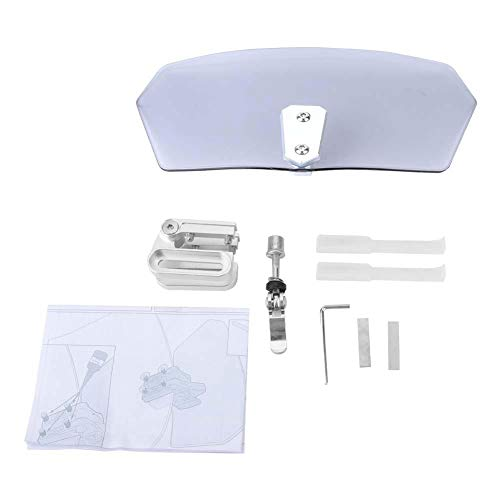 Parabrezza regolabile per moto universale/deflettore del vento/parabrezza, ABS (vetro) + lega di alluminio(2420726031)