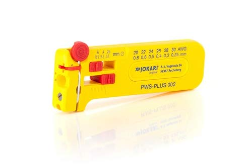 JOKARI®original Mikro-Präzisions-Abisolierwerkzeug PWS-Plus 002 zum Abisolieren von feinen Leitern und Litzen AWG 30 bis 20/0,25 bis 0,80 mm Ø, Art.Nr. 40025
