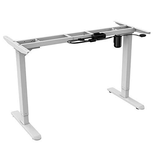 AIMEZO Höhenverstellbarer Schreibtisch Elektrisch höhenverstellbares Tischgestell(Weiß)