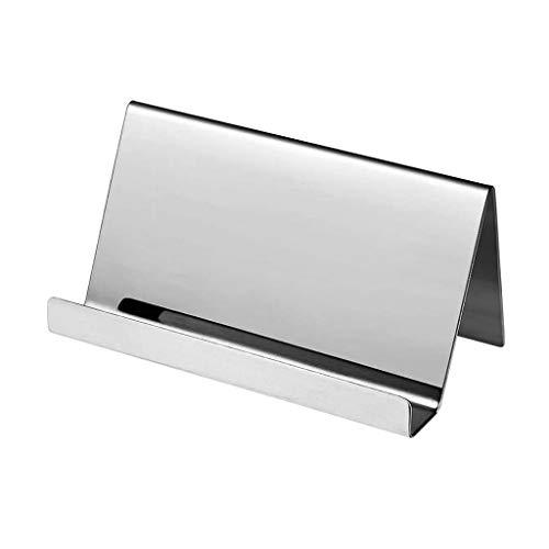 Angelliu - Tarjetero para tarjetas de visita de acero inoxidable, soporte de alta gama, 2 colores, para tarjetas de visita profesional, tarjetas de clip, fotos, menús de mesa, fotos