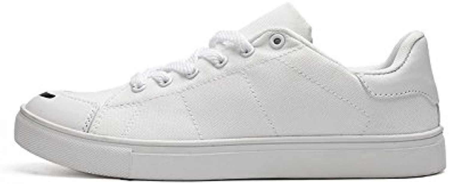 Men's casual shoes men's casual shoes sneakers students lace canvas shoes,white,Forty-two