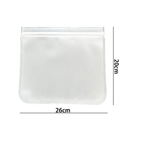 KangHan 10 stuks silicone voedselzakjes herbruikbare Ziplock sandwich-zakjes, Zero Waste-opbergzakjes levensmiddelen vriesvak container voor vlees-taarten keukenhulpen