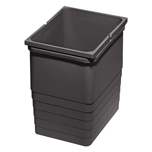 Ninka eins2vier Abfallsammler 17 L dunkelgrau Höhe: 310 mm 306 x 230 mm Abfallsammler Mülleimer Komposteimer