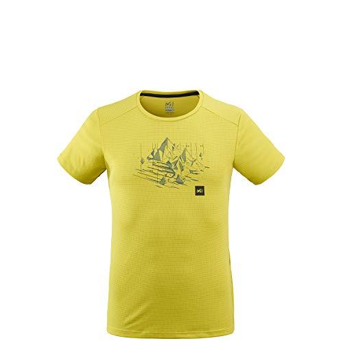 Millet - Black Mountain TS SS M - T-shirt Sport Homme - Respirant - Alpinisme, Approche, Escalade, Lifestyle - Vert (Wild Lime), S