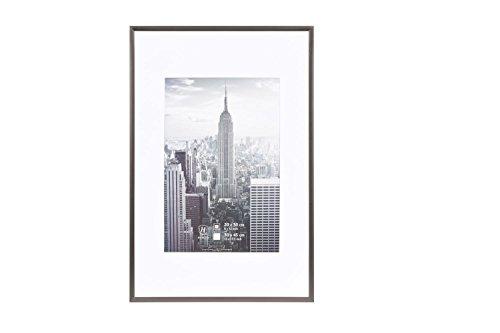 Henzo Manhattan Bilderrahmen, Metall, grau, 30 x 45 x 2 cm