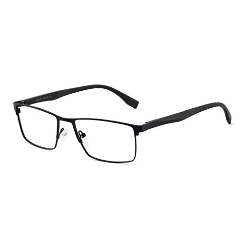 OCCI CHIARI Anti Blue Light Glasses for men - Computer Glasses Men - Black Eyewear Frame - Game Glasses for Men