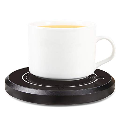 Wandefol Kaffeewärmer Tassenwärmer Becher-Wärmehaltungsplatte Multifunktionale Getränkewärmer Glas mit Elektrischer Heizplatte 220V 18W für Büro Home Desk, Kaffee-Liebhaber mit 2 Modus Schalter