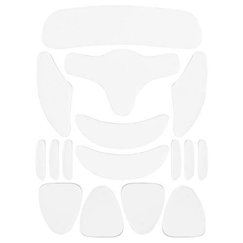 KLOP256 Anti-Falten-Pads, transparent, wiederverwendbar, für Gesicht, Gesicht, Stirn-Sticker aus Silikon, effektiv, feuchtigkeitsspendend, unsichtbar, tragbar, 16 Stück