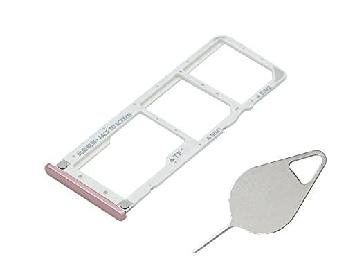 OnlyTech - Soporte de tarjeta SIM doble y tarjeta de memoria Micro SD de Xiaomi Mi A2 Lite rosa + herramienta de extracción