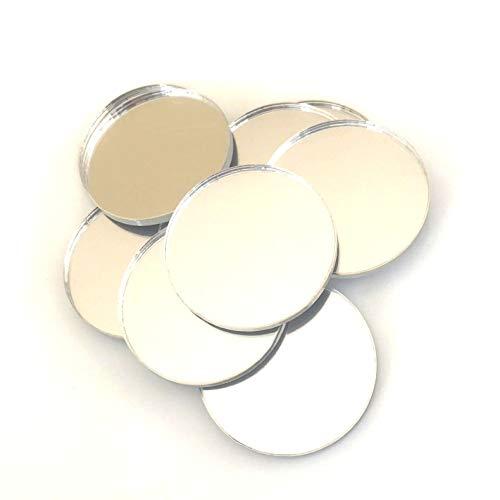 Servewell - Set di 10 specchi a forma di cerchio, in acrilico infrangibile, colore: rosa, 10 x 10 cm