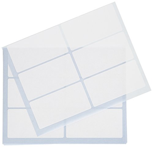 Tico 947910 - Pack de 10 hojas de etiquetas adhesivas, color blanco