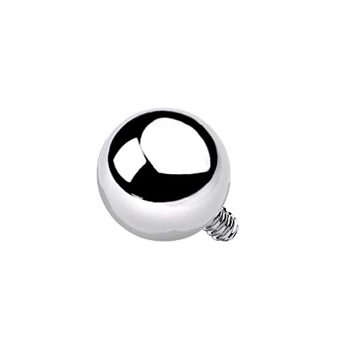 Set of 10 14-16GA G23 Implant Grade Titanium Replacement Balls for Internally Threaded Jewelry (14GA - 3mm)