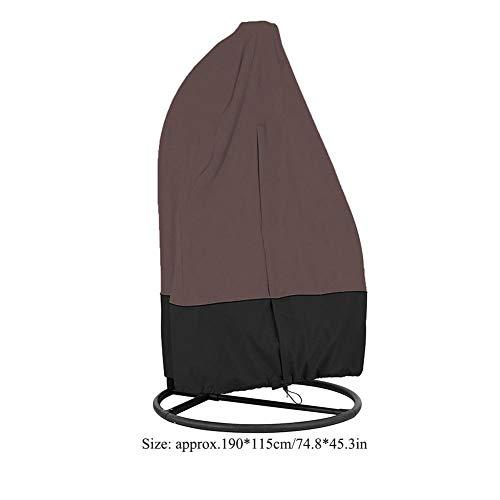 Stoelhoezen, Tuin Patio Meubelhoes Waterdichte schommelstoel voor buiten Hangend, beschermt schommelstoel tegen regen, wind, UV, stof(Koffie)