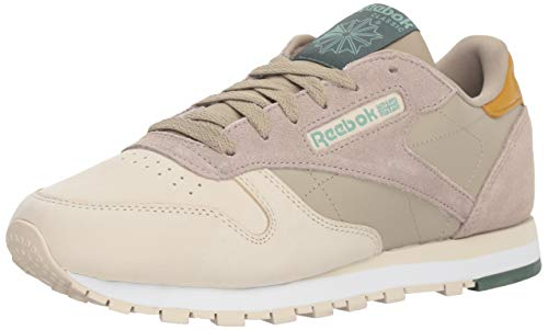Reebok Women's Classic Leather Walking Shoe, cb-Sprint Neutral/Sandtrp/wd, 5 M US
