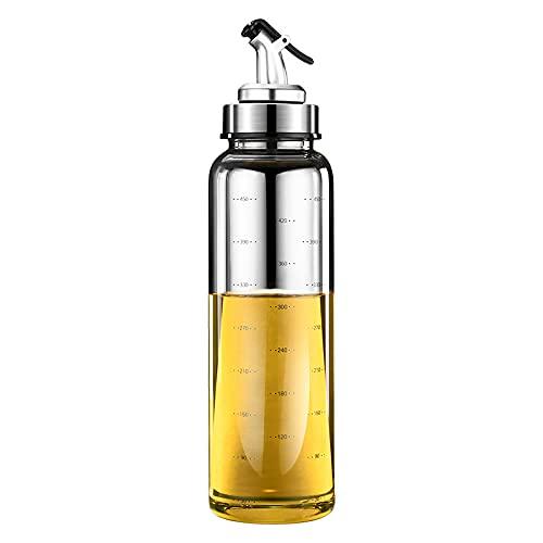 Mecia Leak Proof Oil Pot Borosilicate Glass Seasoning Bottle for Household Soy Sauce Vinegar Oil