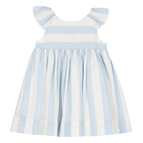 TARTINE ET CHOCOLAT Robe avec rouches pour fille à rayures bleues printemps été 2020 - Multicolore - 2 ans