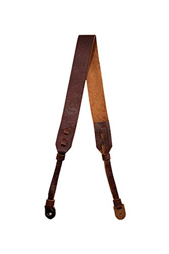 TETHER's Brown Leather Camera Strap for DSLR or SLR Camera, DSLR Camera Strap. Camera Accessories. Canon Camera Strap. Nikon Camera Strap (Brown)