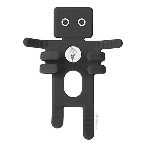 DIYthinker zwarte contour sesam koekjes ijs zwart telefoon mount auto dashboard houder mobiele telefoon cadeau