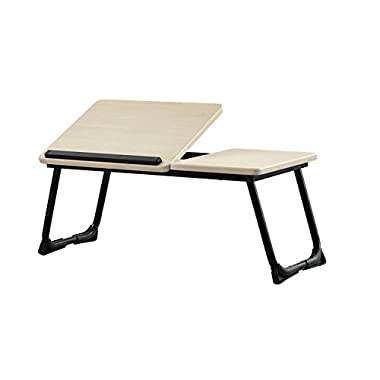Green Forest Laptop Desk Stand Foldable Portable Large Size Tilting Home and Office Supplies MDF Lap Desk Bed Tray Beige