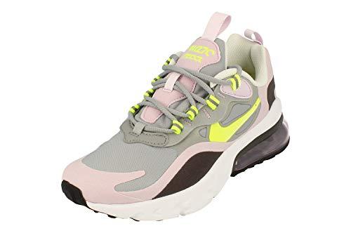 Nike Air Max 270 React (GS), Scarpe da Corsa, Multicolore (Particle Grey/Lemon Venom/Iced Lilac/off Noir), 36 EU
