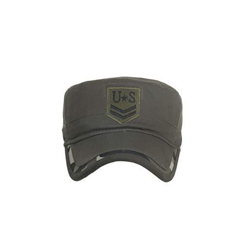 TWIFER Gorras de algodón Lavado Caps Militares Cadete Diseño único Vintage Tapa Plana Gorra béisbol Estilo Polo Clásico Deportivo Casual Liso Sombrero Suave Transpirable Suave
