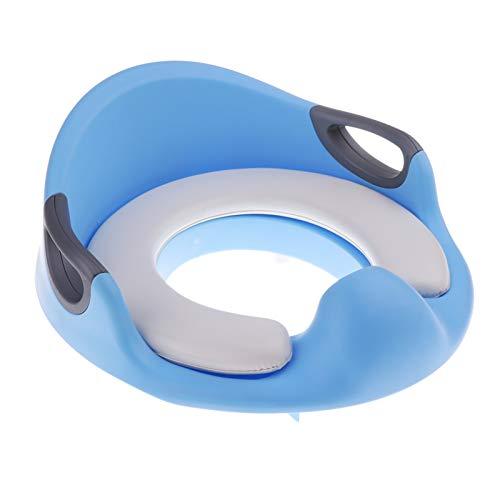 XIAOZHENT WC Niños Bebé niño niños Adaptador de Seguridad Asiento de Inodoro con Asas para niños Adaptador Asiento de Inodoro (Color : Blue)
