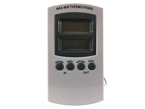 Weedness hygrometer voor binnen, digitale thermometer met temperatuur en luchtvochtigheid, controle van binnenklimaat en luchtbewaking