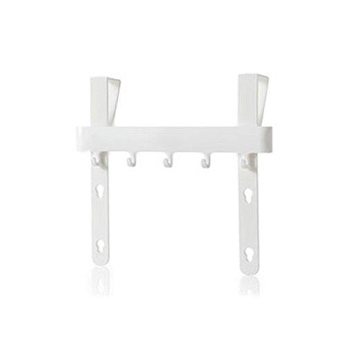 Lenfesh Küchentür Rack Haken hängen Speicherorganisator Wandhalterung (Weiß)