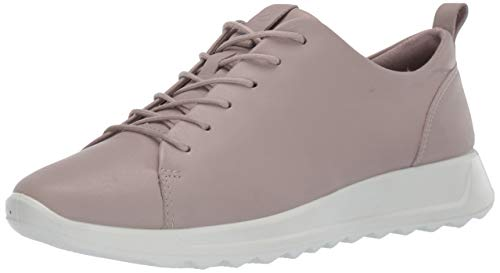ECCO Women's Women's Flexure Runner Tie Sneaker, Grey Rose, 39 M EU (8 8.5 US)