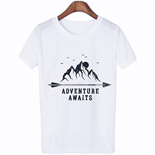 T-Shirt Femme T Shirt Mode Streetwear Tshirt Hipster Esthétique Femme Chemises T-Shirt XXL 1350