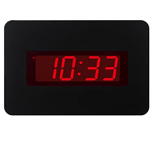 ChaoRong Réveil électrique Horloge Murale pour Les Chambres actionnées par Batterie Seulement (Noir), avec Clip arrière. Vous Pouvez Le Placer sur Un Bureau ou Un Mur