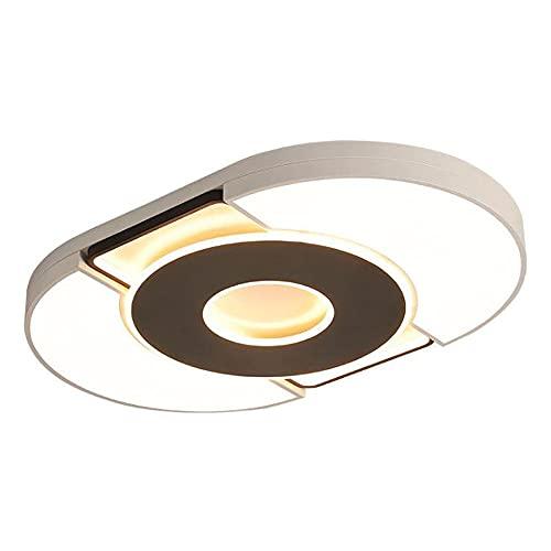 ZWZCON LED de forma redonda Simplicidad Lámparas de techo para dormitorio Ahorro de energía Atenuación de tres colores Luz de techo de hierro forjado ajustable Se aplica en el hogar Lugar Sala de esta