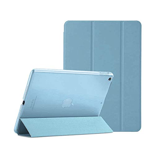 For Apple iPad Air 2/2nd Generation A1566 A1567 Smart Case with Automatic Magnetic Wake/Sleep (LIGHT BLUE)