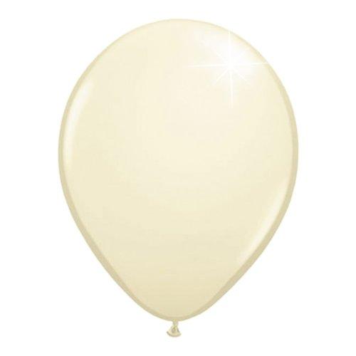 Folat B.V.- Ivory-White Metallic Balloons-50 Globos metálicos marfil-blanco-50 Piezas, Color blanco, 50er pack (19145)