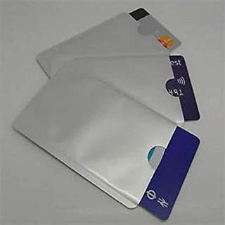 Kizet (R) RFID Sleeves Credit Card Sleeve,Credit Card Protector Sleeves Blocks Credit Cards Transfer of Pickpocketing – Aluminium RFID Credit/Debit Card Sleeves