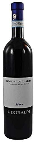 Dolcetto d´Alba DOC Davi 2017 (BIO) ohne zugesetzten Sulfiten (1x0,75l), Mario Giribaldi, trockener Rotwein aus dem Piemont