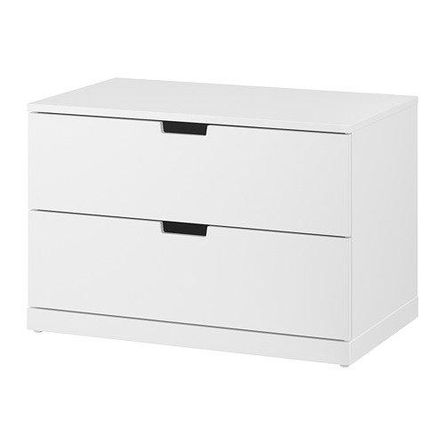 Unbekannt IKEA NORDLI - Cómoda con 2 cajones, 80 x 45 cm, Color Blanco