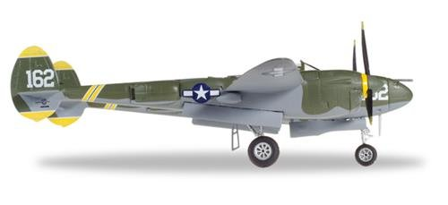 Herpa 580229 'U.S. Air Force Lockheed P-38J Lightning Miniature Vehicle'.