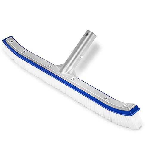 """Homga Swimming Pool Brush, 18"""" Pool Brush,Nylon Algae Pool Brush Designed for Cleans Walls, Tiles & Floors Effortlessly (Blue)"""
