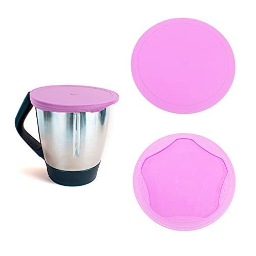 Silikon Deckel für Thermomix TM6/TM5/TM31 Mixtopf - BPA frei, Kühlschrank Luft- und Geruchsdicht, Wiederverwendbar Cover Zubehör kompatibel mit Vorwerk Thermomix (Rosa)