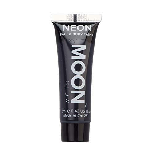 Moon Glow - Pintura corporal y facial intensa de neón UV – Negro 12 ml