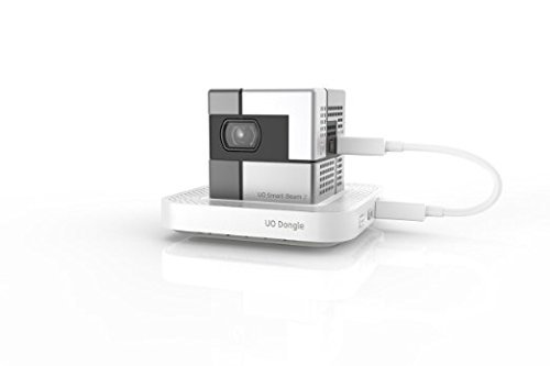 SK UO Smart Beam, Portable Mini Projector, Compatible with iOS/Android (Wireless 1.80 inch, Black Pearl)
