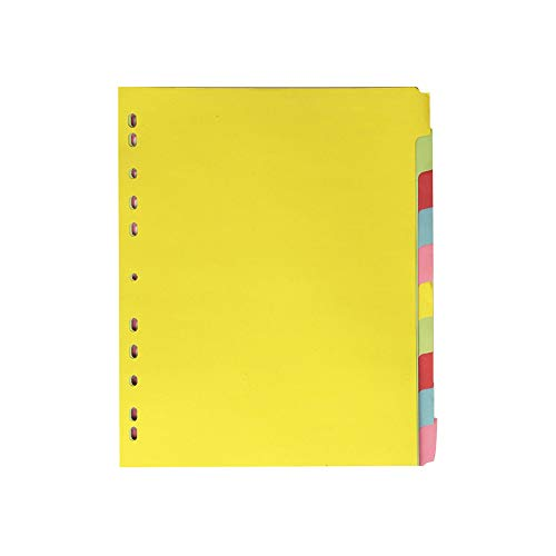 Elba, File Dividers A4, 10 Part, Assorted, 25 Sets