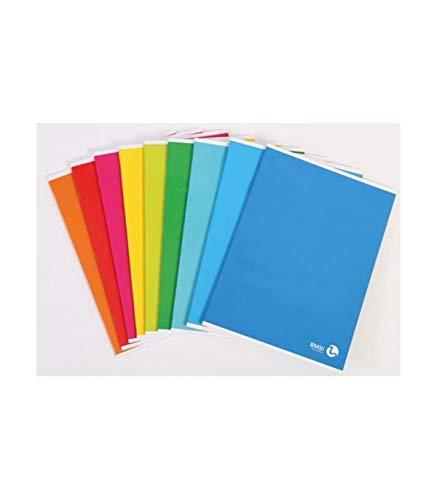 TradeShop - QUADERNO Maxi A4 A Righe Riga A 1 2 ELEMENTARI 80 Grammi Numero Fogli 80+R Color - 016593
