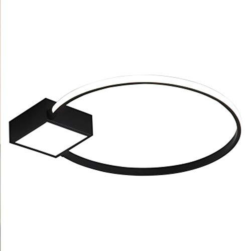 LED Moderno Luz De Techo 25W Regulable Lampara De Techo Ultradelgado Negro...